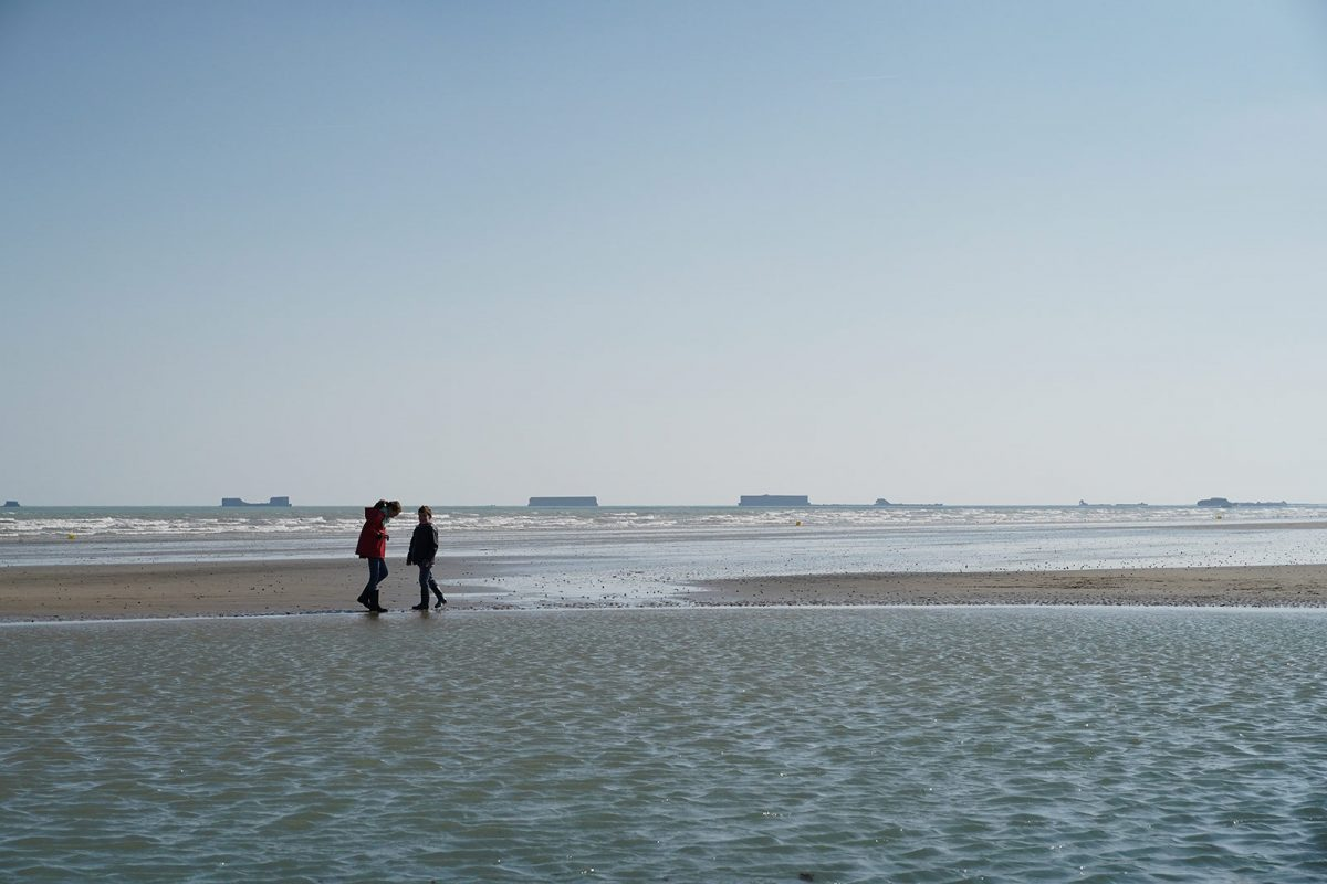 La playa de Arromanches en familia - Día D