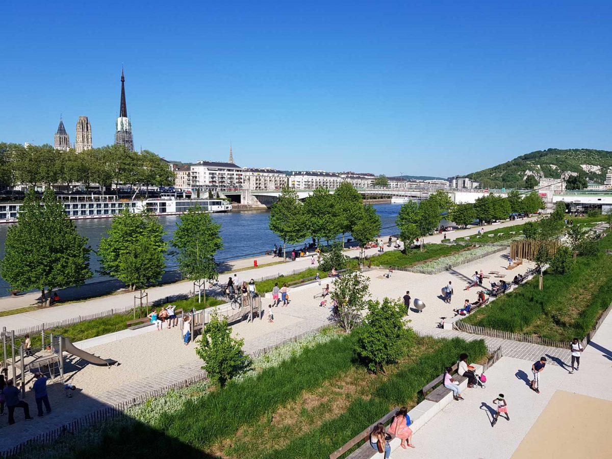 Rouen, los diques del Sena