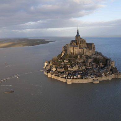 Las grandes mareas en el monte Saint Michel