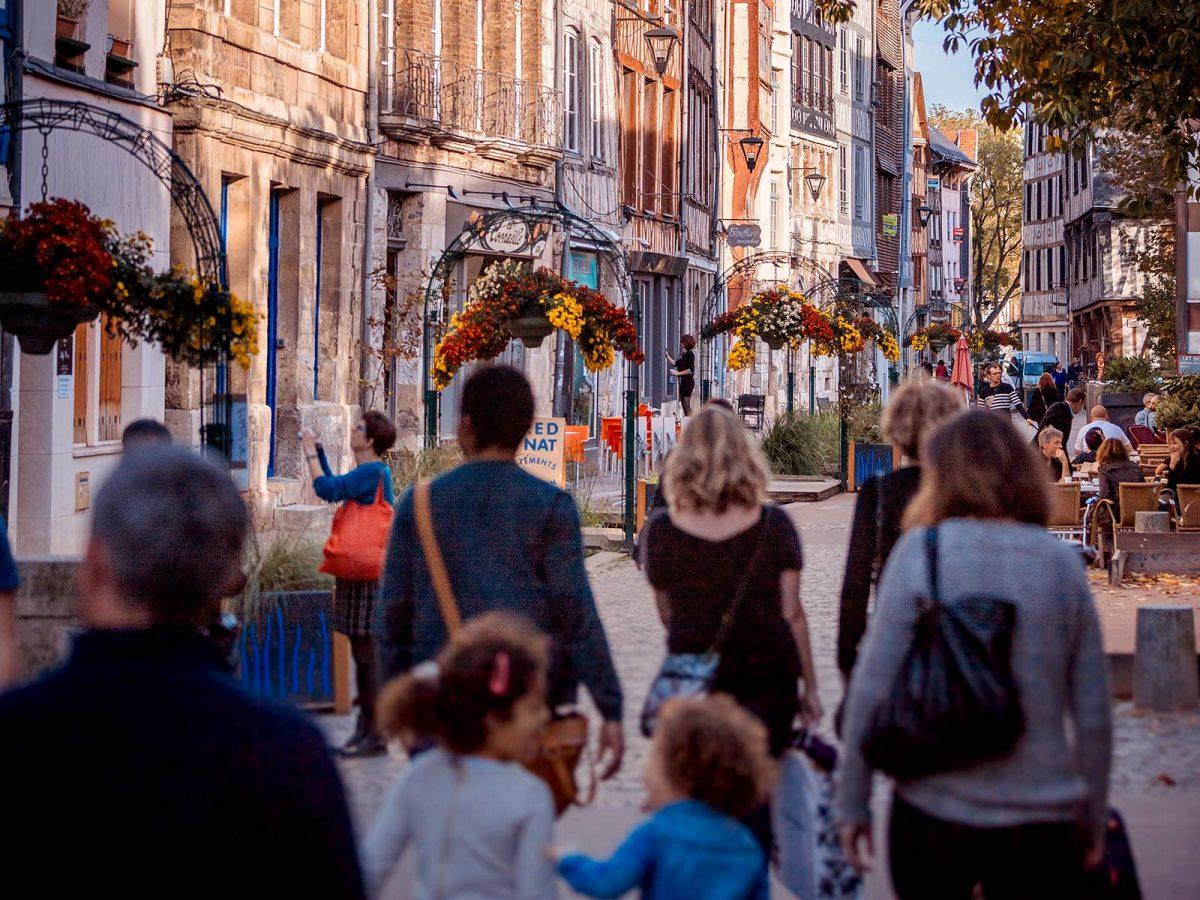 Shopping en Rouen, en la calle Eau de Robec