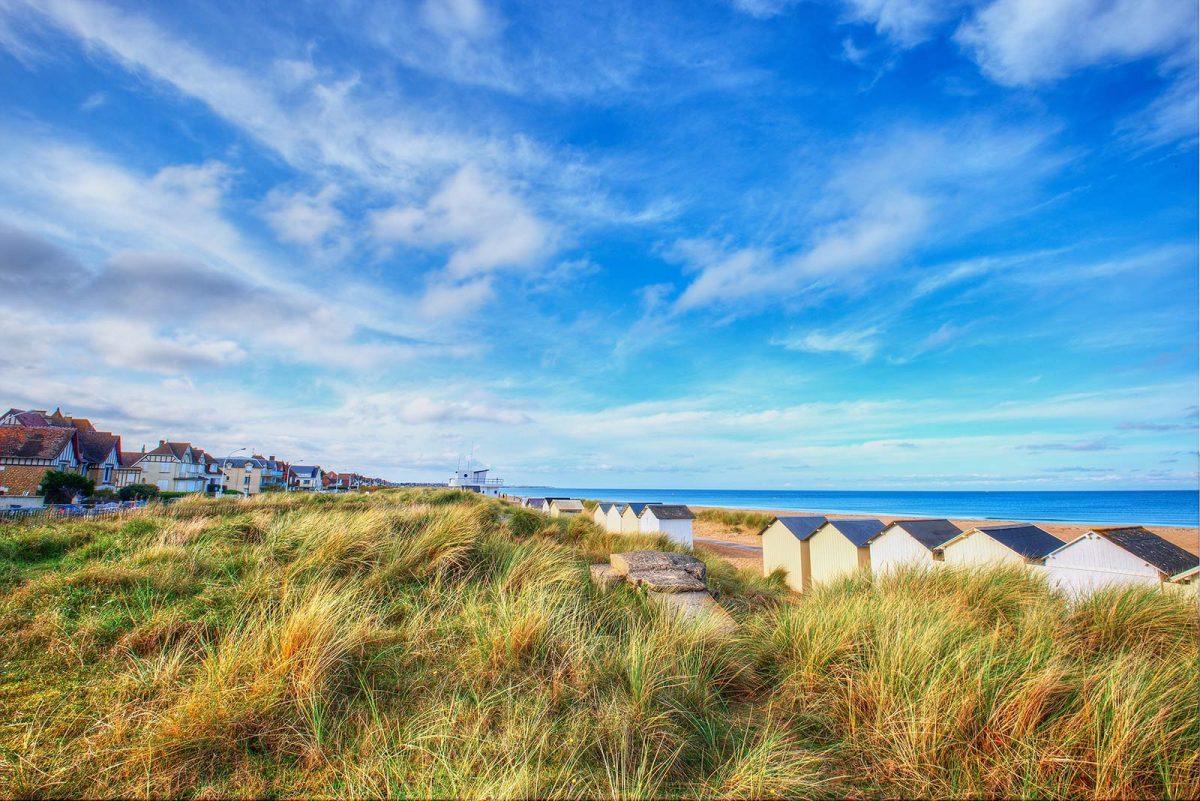 Le bord de plage à Ouistreham
