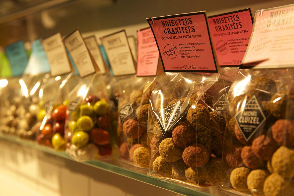 Noisettes granitées de la Chocolaterie Cluizel