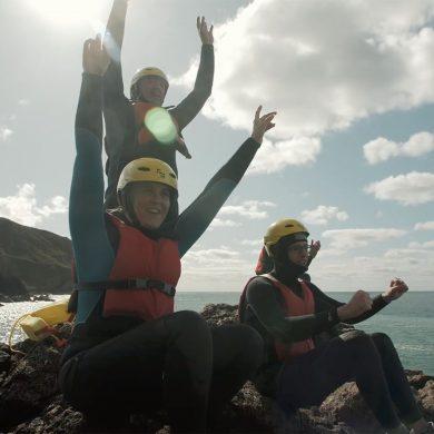 Coasteering en la península del Cotentin