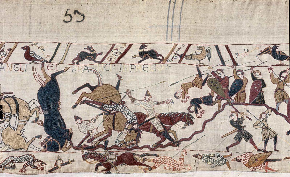 Détail de la Tapisserie de Bayeux, classée à l'Unesco