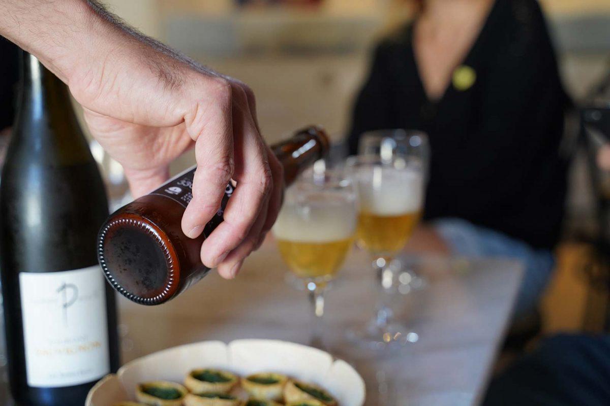 Cerveza artesanal en la granja  de Vailly